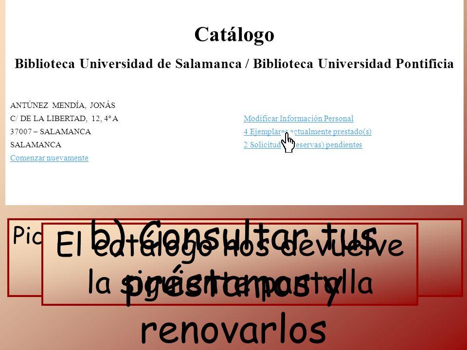 Catálogo Biblioteca Universidad de Salamanca / Biblioteca Universidad Pontificia ANTÚNEZ MENDÍA, JONÁS C/ DE LA LIBERTAD, 12, 4º AModificar Informació