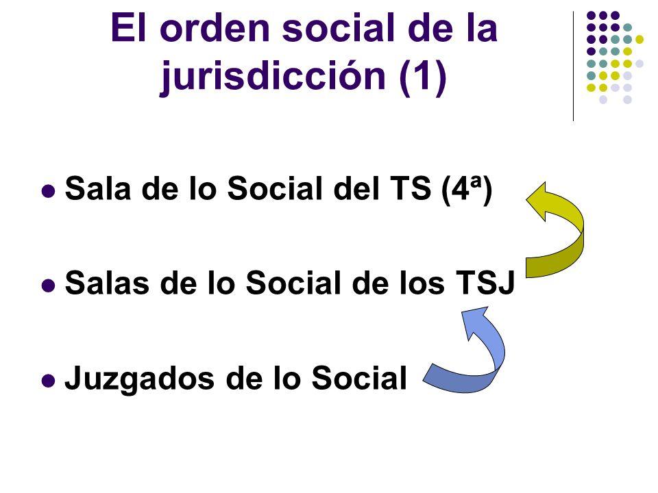 El orden social de la jurisdicción (2) La Sala de lo Social de la Au- diencia Nacional La posición del TC y del TSJCE