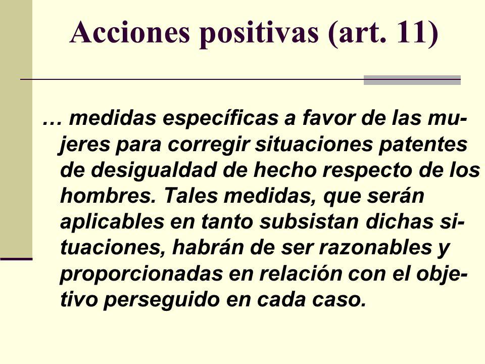Acciones positivas (art.