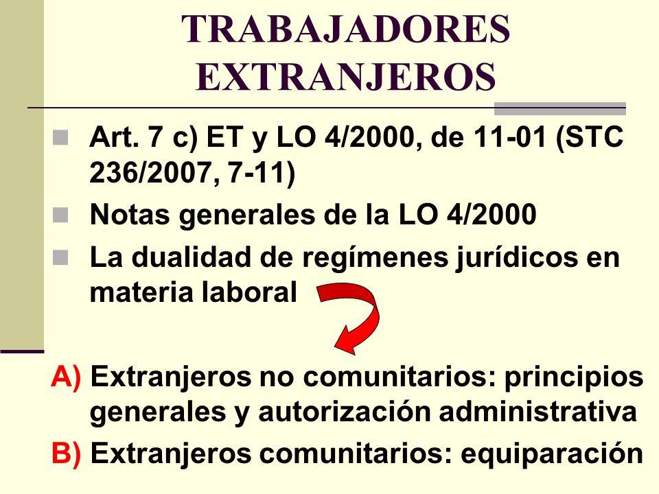 TRABAJADORES EXTRANJEROS Art.