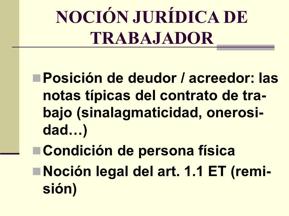 TIPOLOGÍA DE TRABAJADORES Una pluralidad de criterios clasifica- torios Propuesta selectiva A) Edad B) Sexo C) Nacionalidad
