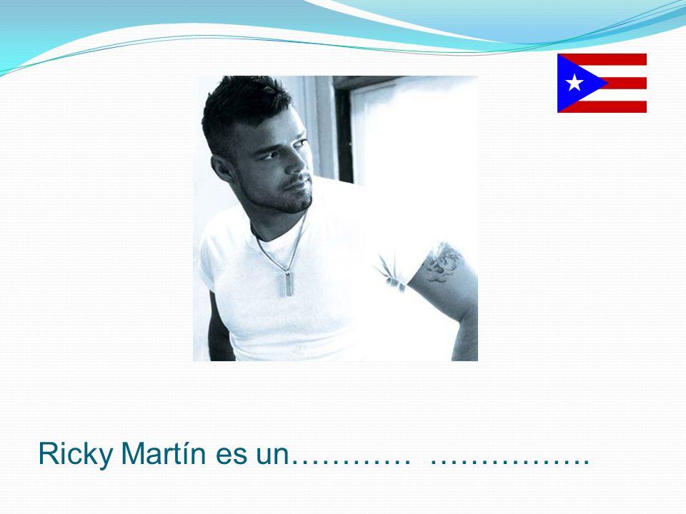 Ricky Martín es un………… …………….