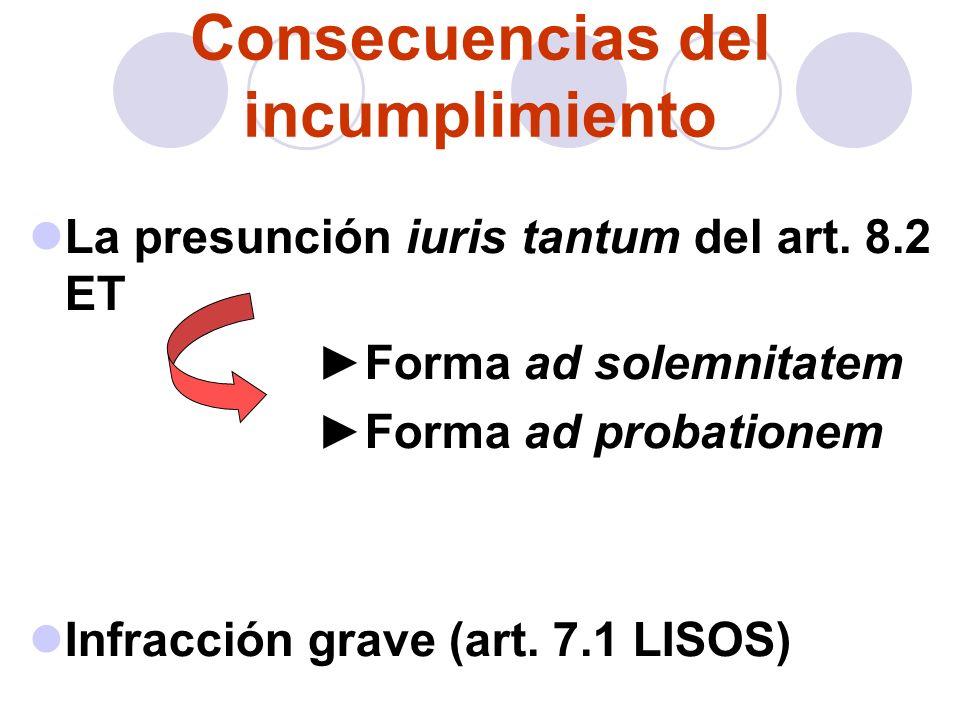 Obligaciones empresariales Entrega de copia básica (art.