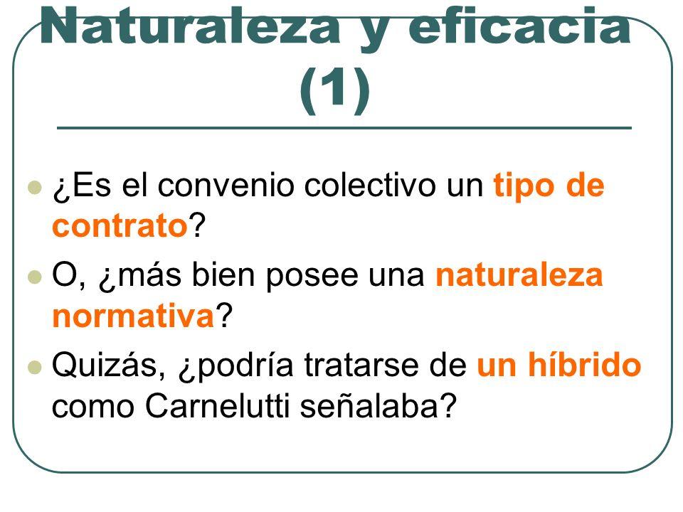 Naturaleza y eficacia (2) La necesidad de prescindir de abstraccio- nes Distinción clave: Eficacia personal Eficacia jurídica (stricto sensu)