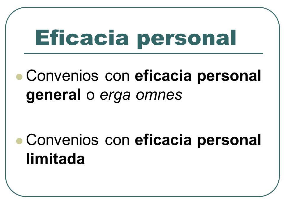 Eficacia jurídica (1) Una triple posibilidad Sin eficacia jurídica Con eficacia contractual Con eficacia normativa