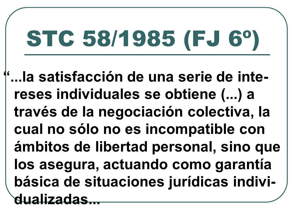 STC 58/1985 (FJ 6º)...