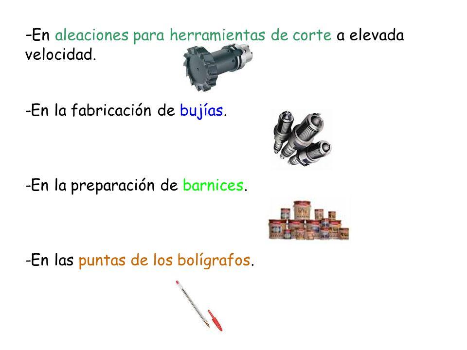 -En la producción de aleaciones de acero duras y resistentes.