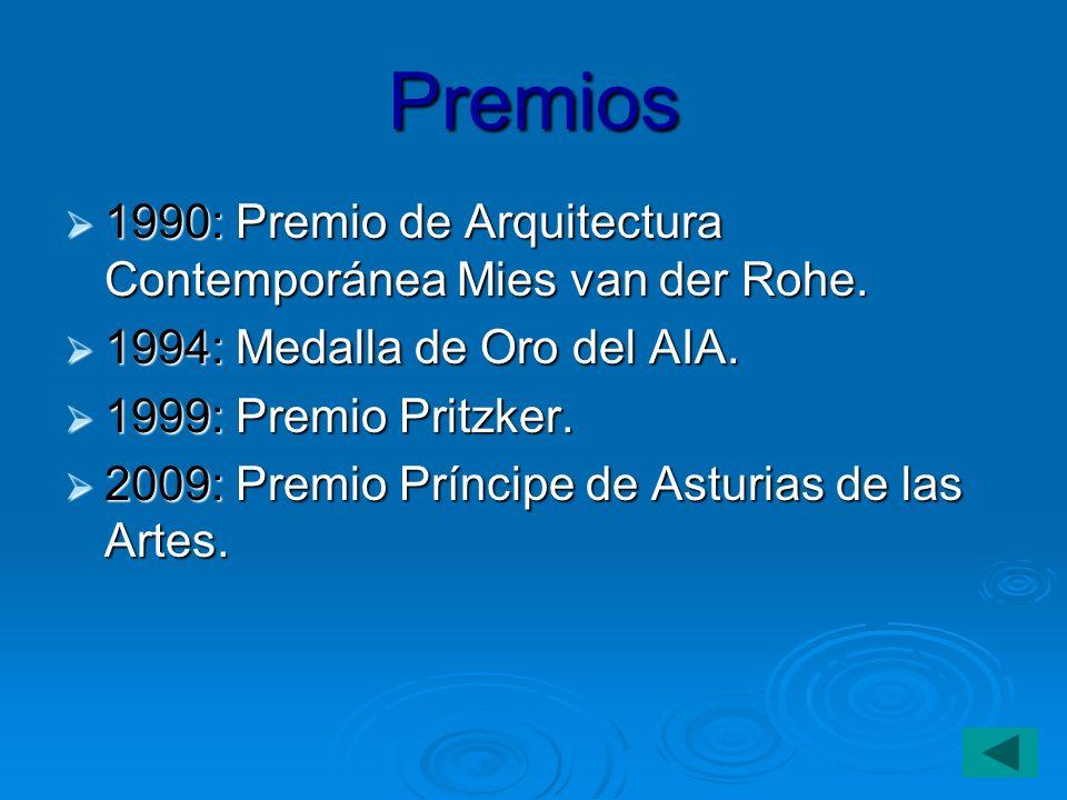 Premios 1990: Premio de Arquitectura Contemporánea Mies van der Rohe.