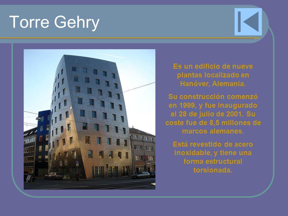 Torre Gehry Es un edificio de nueve plantas localizado en Hanóver, Alemania. Su construcción comenzó en 1999, y fue inaugurado el 28 de julio de 2001.