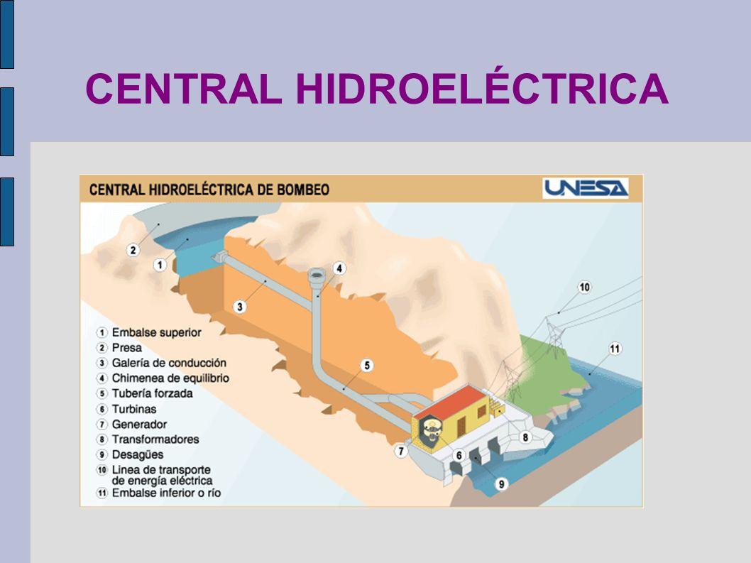 CENTRAL HIDROELÉCTRICA Origen de las energías primarias (España): http://www.larutadelaenergia.org/http://www.larutadelaenergia.org/ (energía primaria)