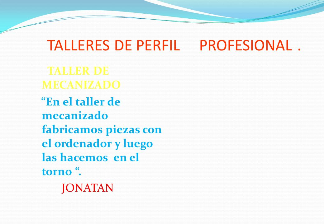 TALLERES DE PERFIL PROFESIONAL.T.