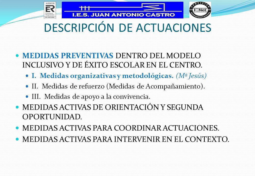MEDIDAS PREVENTIVAS (I) I.
