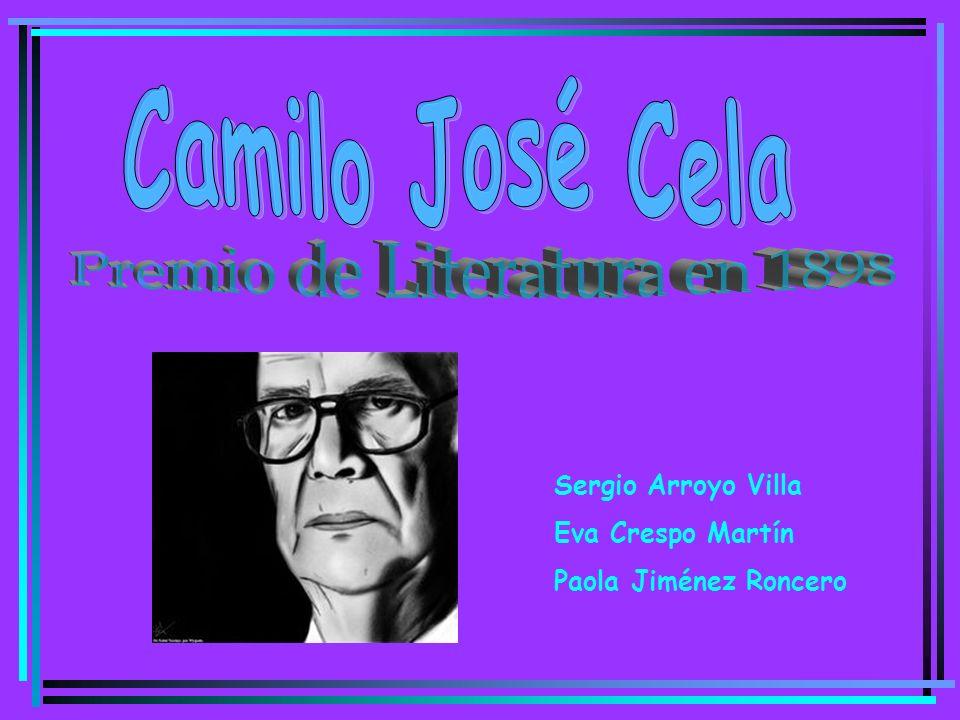 Índice Biografía Premio Nobel Obras Destacadas –María Sabina –San Camilo –La Cruz de San Andrés –La Familia de Pascual Duarte –La Colmena