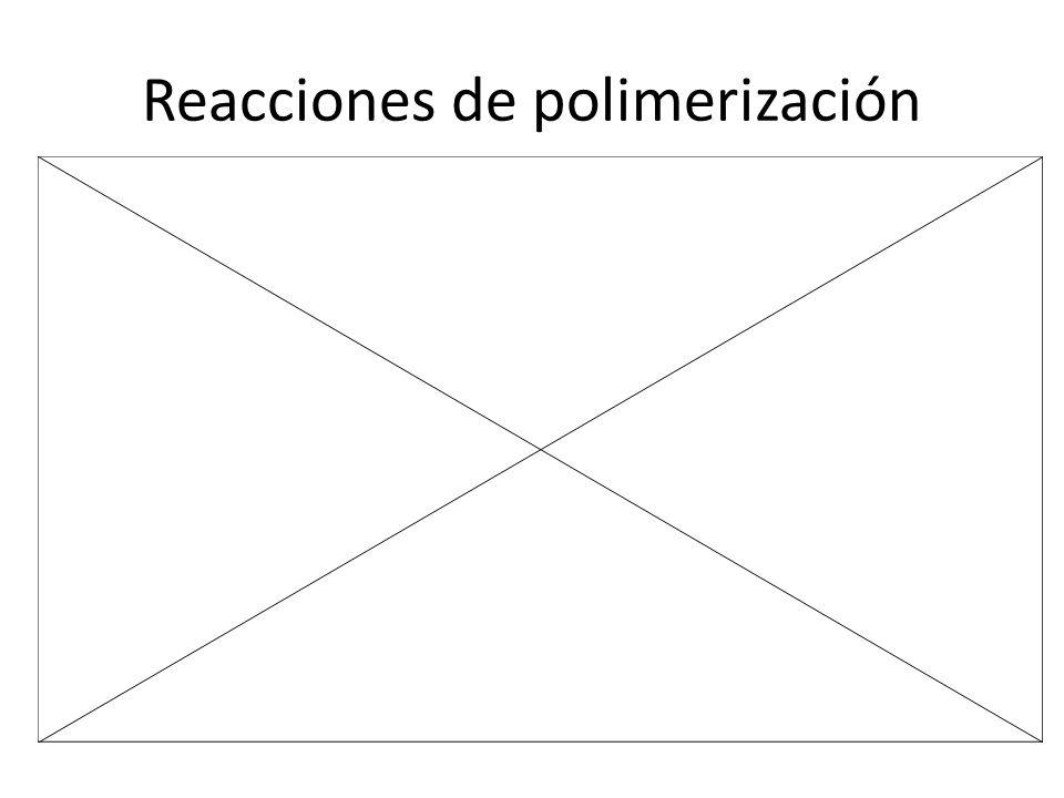 8 Estructura y usos de algunos polímeros de adición MONÓMEROPOLÍMERO USOS PRINCIPALES CH 2 =CH 2 –CH 2 –CH 2 –CH 2 –CH 2 – Bolsas, botellas, juguetes...