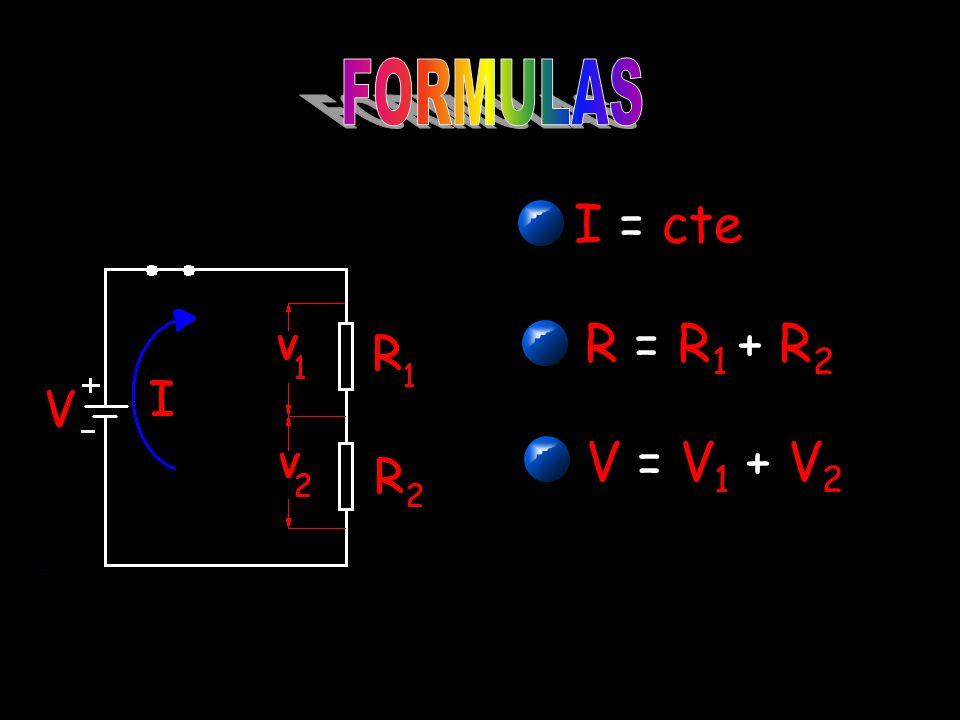 I = cte R = R 1 + R 2 V = V 1 + V 2