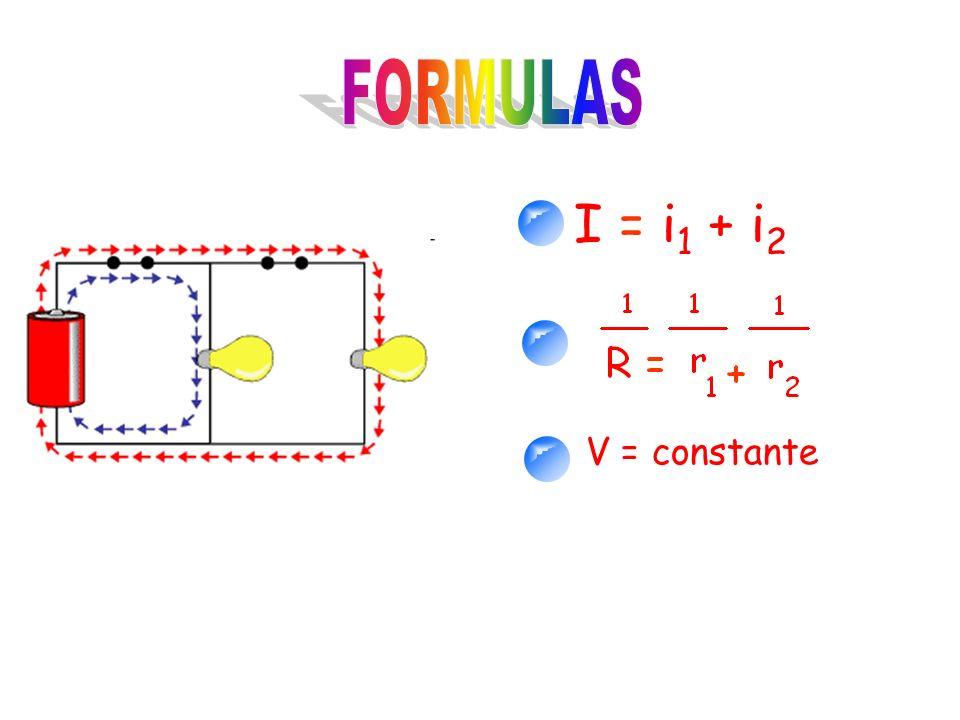 I = i 1 + i 2 V = constante