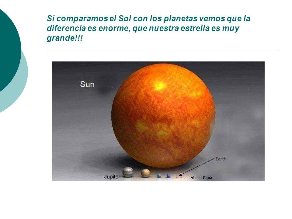 Y sin embargo, hay otras estrellas mucho mayores que el Sol.