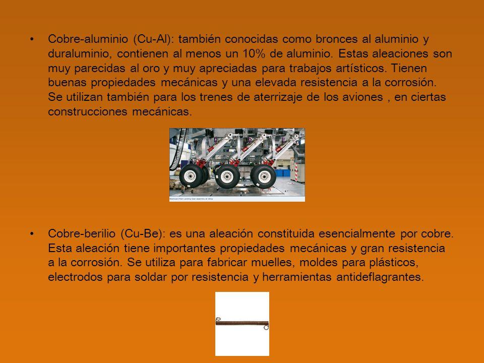 Cobre-plata (Cu-Ag) Constantán (Cu55Ni45) Manganina (Cu86Mn12Ni2) Video http://www.procobre.org/procobre/video/index.html