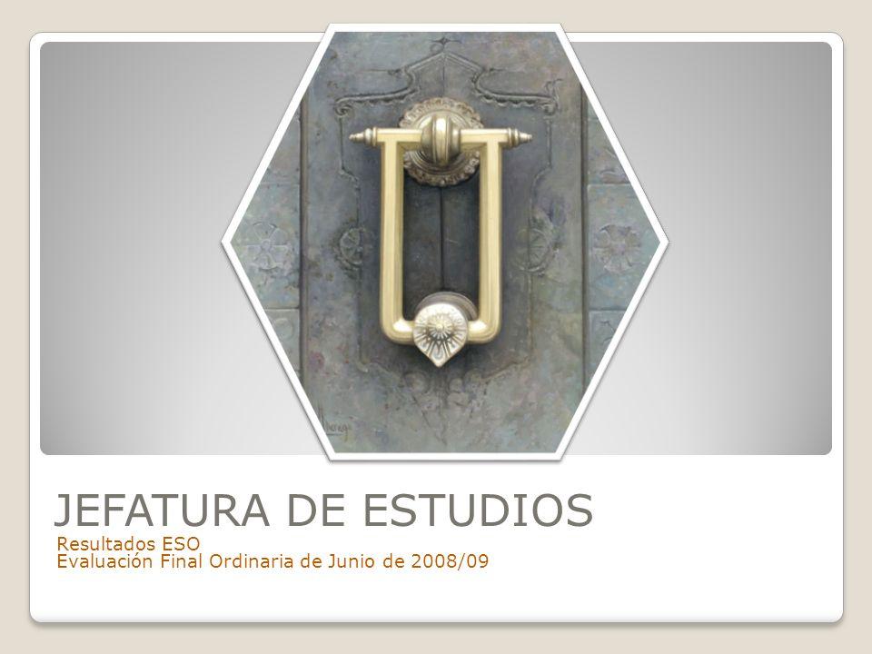 JEFATURA DE ESTUDIOS Resultados ESO Evaluación Final Ordinaria de Junio de 2008/09