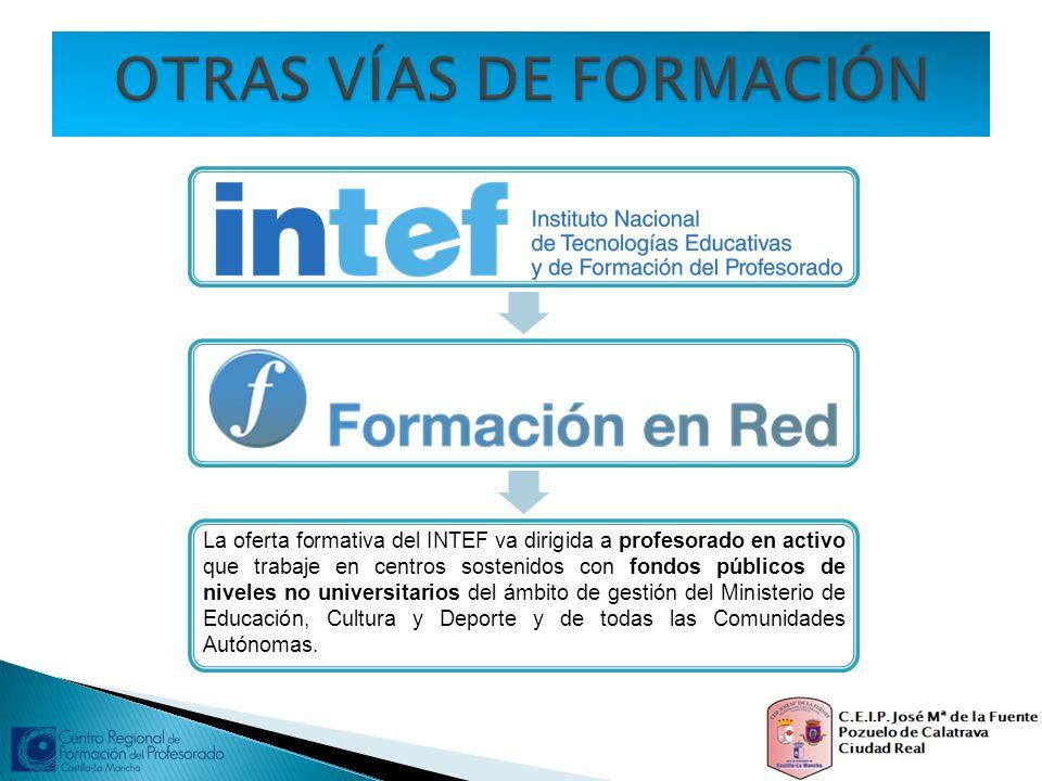 La oferta formativa del INTEF va dirigida a profesorado en activo que trabaje en centros sostenidos con fondos públicos de niveles no universitarios d
