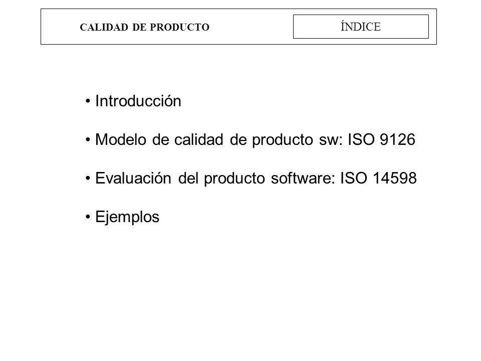 CALIDAD DE PRODUCTO ISO 9126 Usabilidad Capacidad para ser entendido Capacidad del producto software que permite al usuario entender si el software es adecuado y cómo puede ser usado para unas tareas o condiciones de uso particulares.