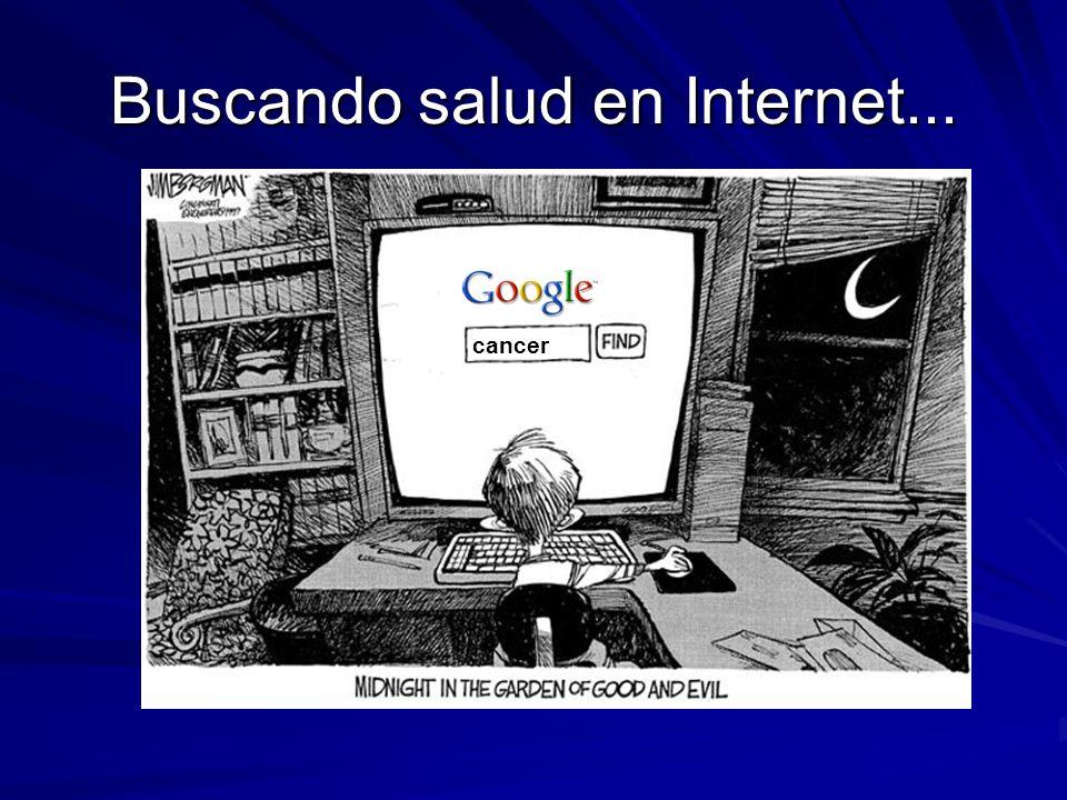 Buscando salud en Internet... cancer