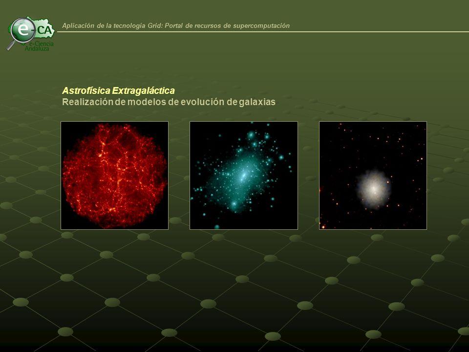 Aplicación de la tecnología Grid: Portal de recursos de supercomputación Astrofísica Extragaláctica Realización de modelos de evolución de galaxias