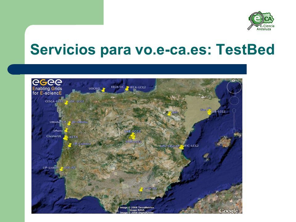 Servicios para vo.e-ca.es: TestBed