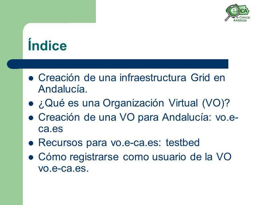 Índice Creación de una infraestructura Grid en Andalucía.