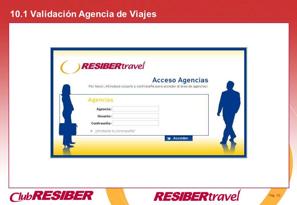 Pág. 35 10.1 Validación Agencia de Viajes
