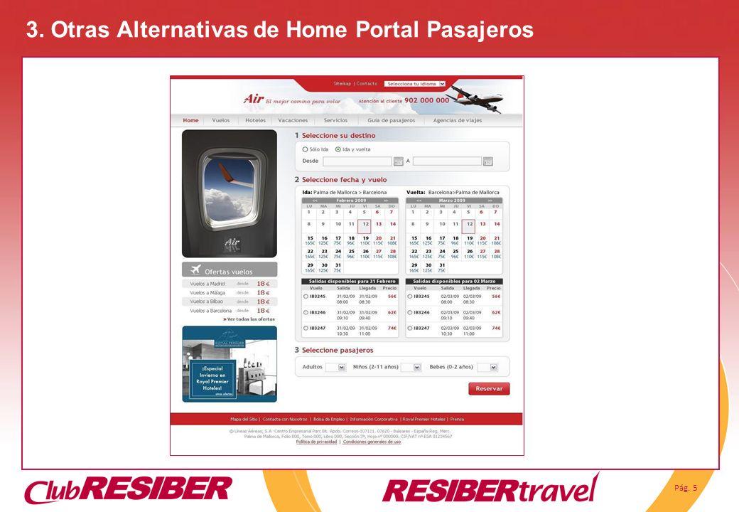 Pág. 5 3. Otras Alternativas de Home Portal Pasajeros
