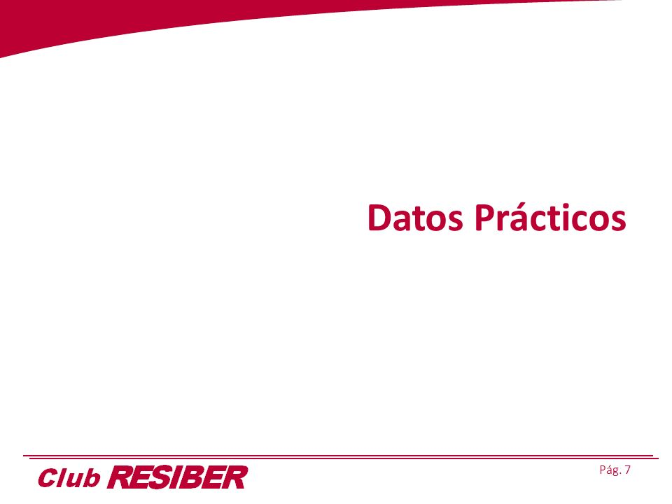 Pág. 7 Datos Prácticos