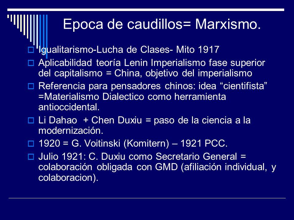 Igualitarismo-Lucha de Clases- Mito 1917 Aplicabilidad teoría Lenin Imperialismo fase superior del capitalismo = China, objetivo del imperialismo Refe