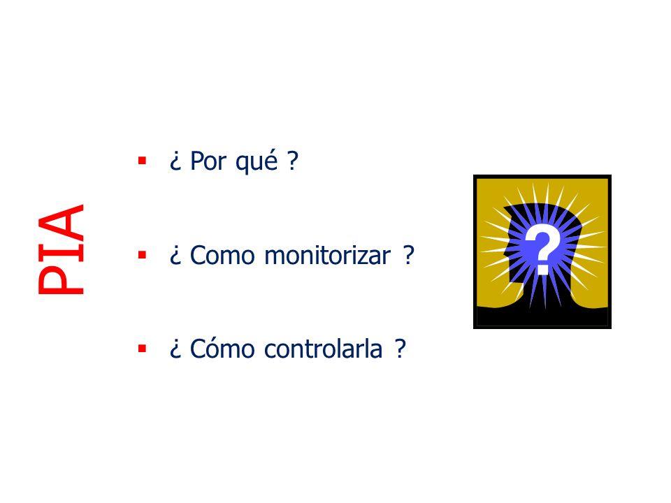 ¿ Por qué ? ¿ Como monitorizar ? ¿ Cómo controlarla ? PIA
