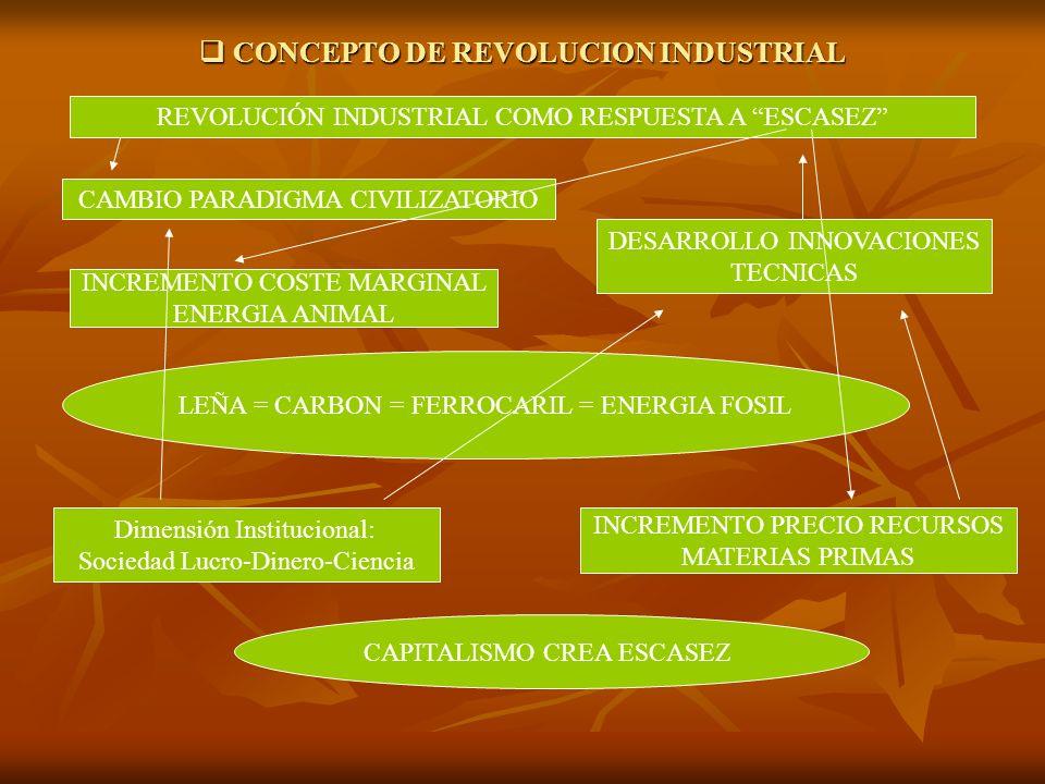 CONCEPTO DE REVOLUCION INDUSTRIAL CONCEPTO DE REVOLUCION INDUSTRIAL REVOLUCIÓN INDUSTRIAL COMO RESPUESTA A ESCASEZ CAMBIO PARADIGMA CIVILIZATORIO DESA