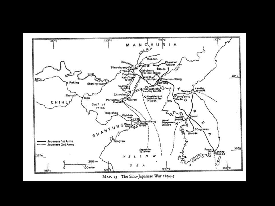 ESQUEMA CRONOLOGICO.Guerra Sino-Japonesa 1894-5 (ii) Insurrecciones Seul 1882-4.