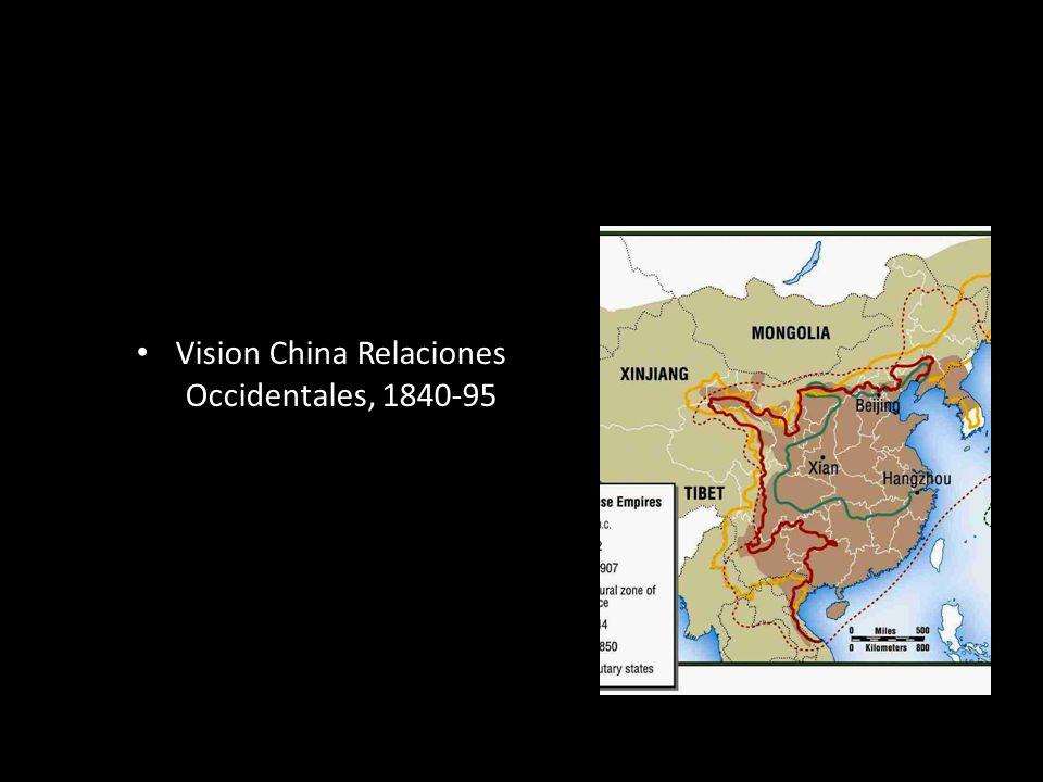 Vision China Relaciones Occidentales, 1840-95