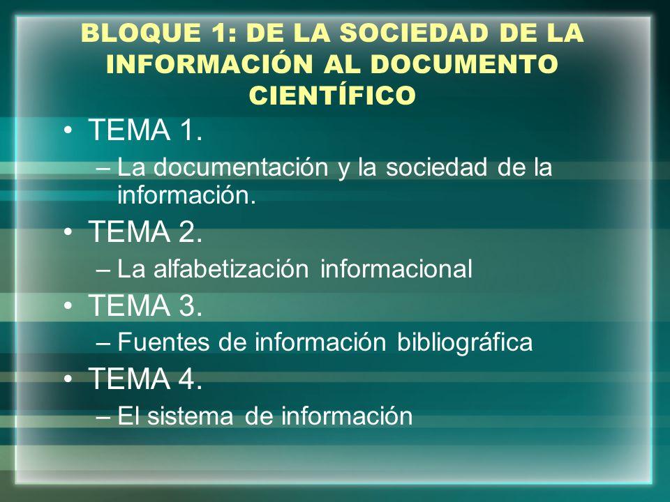 BLOQUE 2: PUBLICACIÓN DE ARTÍCULOS CIENTÍFICOS EN CIENCIAS DE LA SALUD Tema 5.