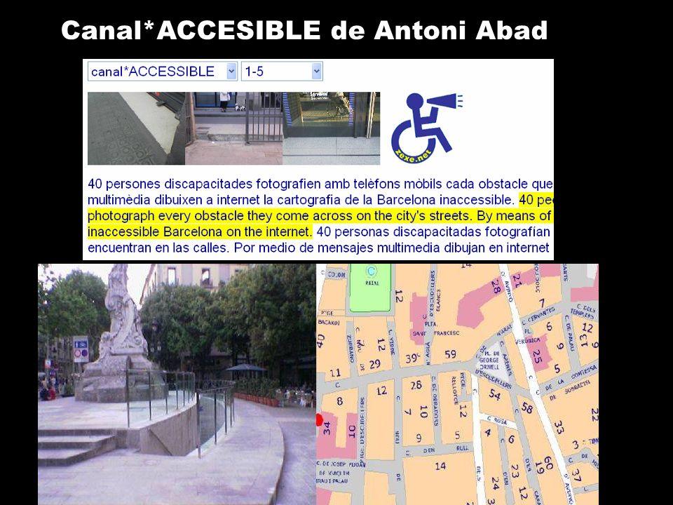Canal*ACCESIBLE de Antoni Abad