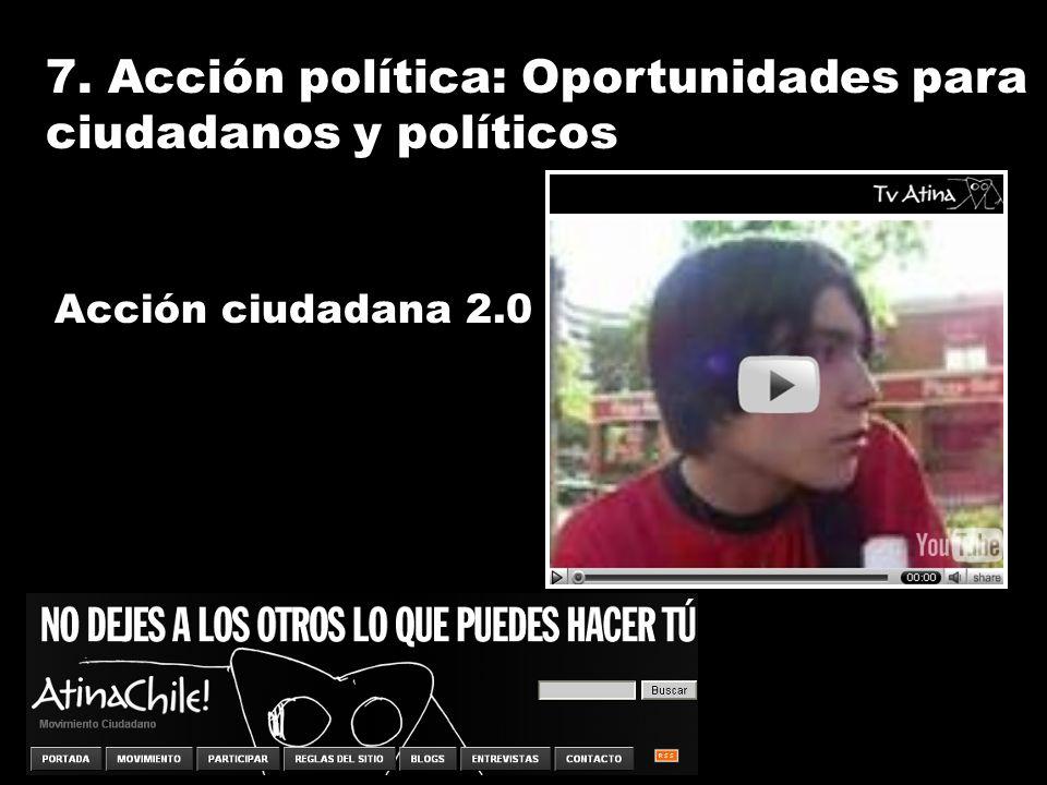 7. Acción política: Oportunidades para ciudadanos y políticos Acción ciudadana 2.0