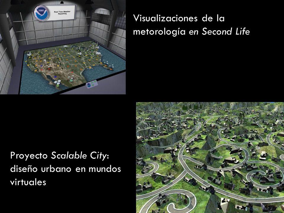 Visualizaciones de la metorología en Second Life Proyecto Scalable City: diseño urbano en mundos virtuales