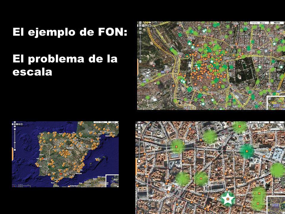 El ejemplo de FON: El problema de la escala
