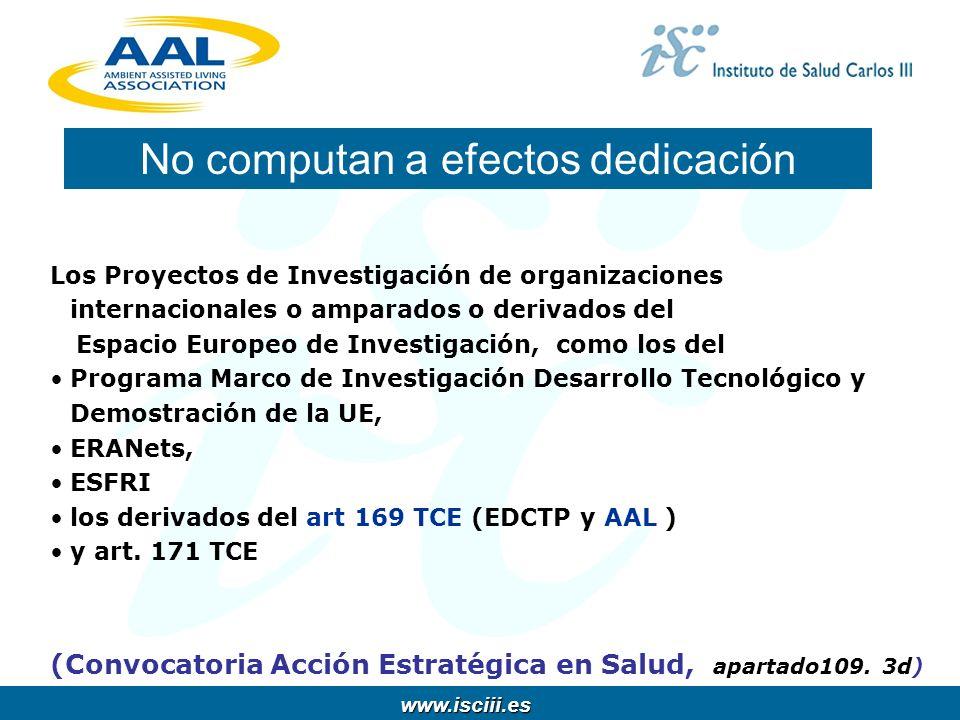 www.isciii.es www.isciii.es Los Proyectos de Investigación de organizaciones internacionales o amparados o derivados del Espacio Europeo de Investigac