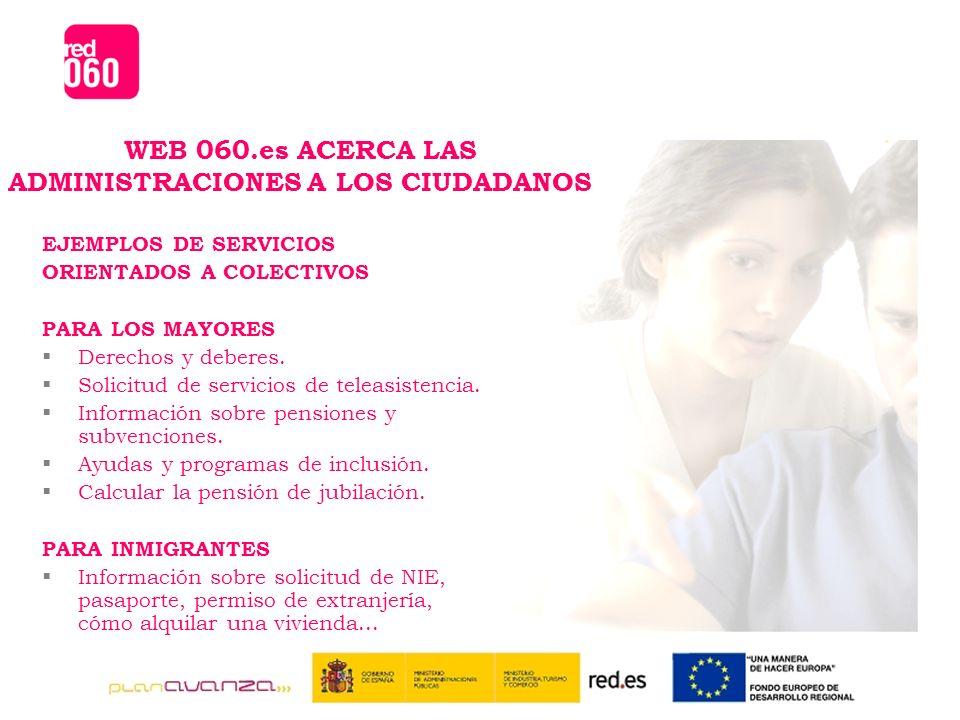EJEMPLOS DE SERVICIOS ORIENTADOS A COLECTIVOS PARA LOS MAYORES Derechos y deberes.