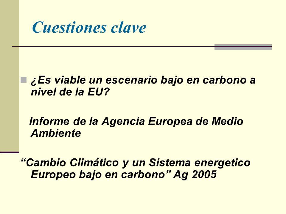 Cuestiones clave ¿Es viable un escenario bajo en carbono a nivel de la EU.