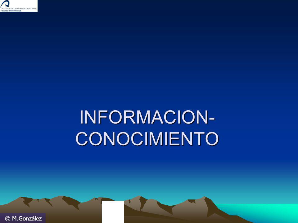 © M.González INFORMACION- CONOCIMIENTO
