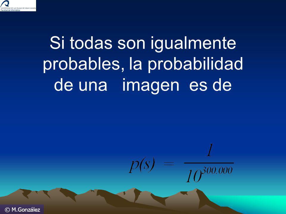 © M.González Si todas son igualmente probables, la probabilidad de una imagen es de
