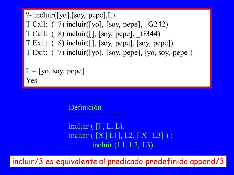 Prolog II26 - incluir([yo],[soy, pepe],L).