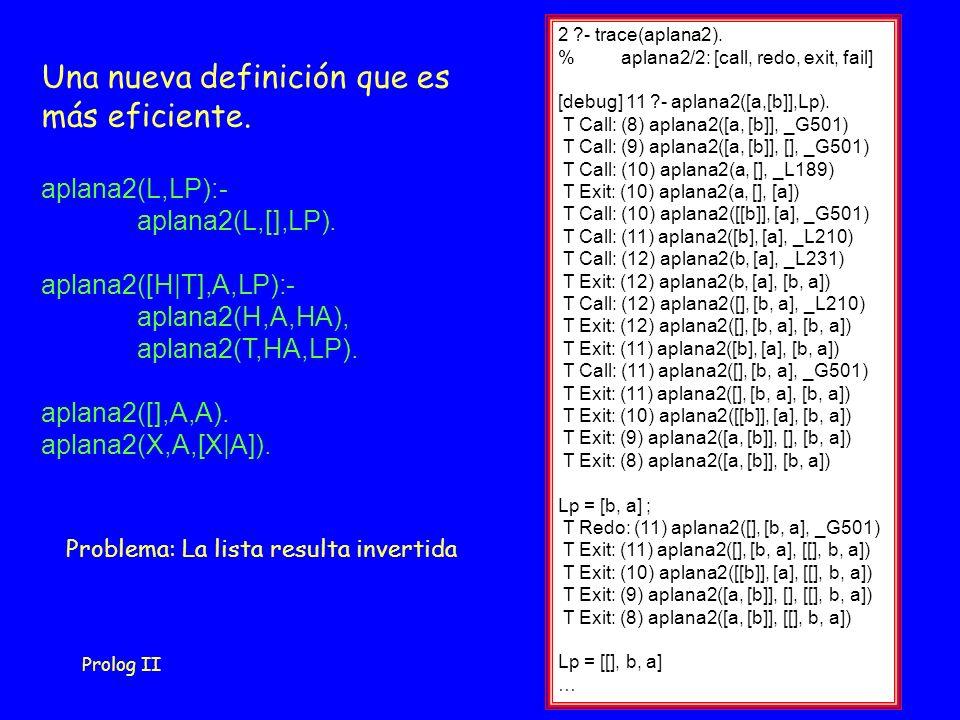 Prolog II37 2 - trace(aplana2).