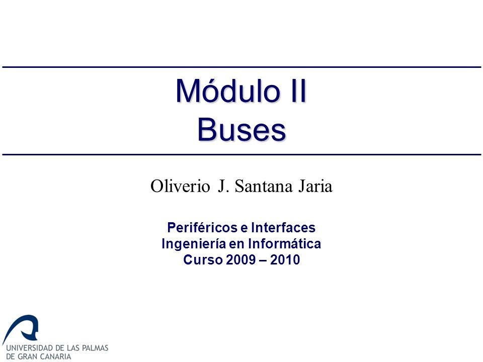 22 Jerarquía de buses Es más eficiente conectar los controladores de E/S a un bus de expansión Su interfaz regula las transferencias de datos entre los controladores E/S conectados a él y el bus del sistema [STALLINGS 3.4]